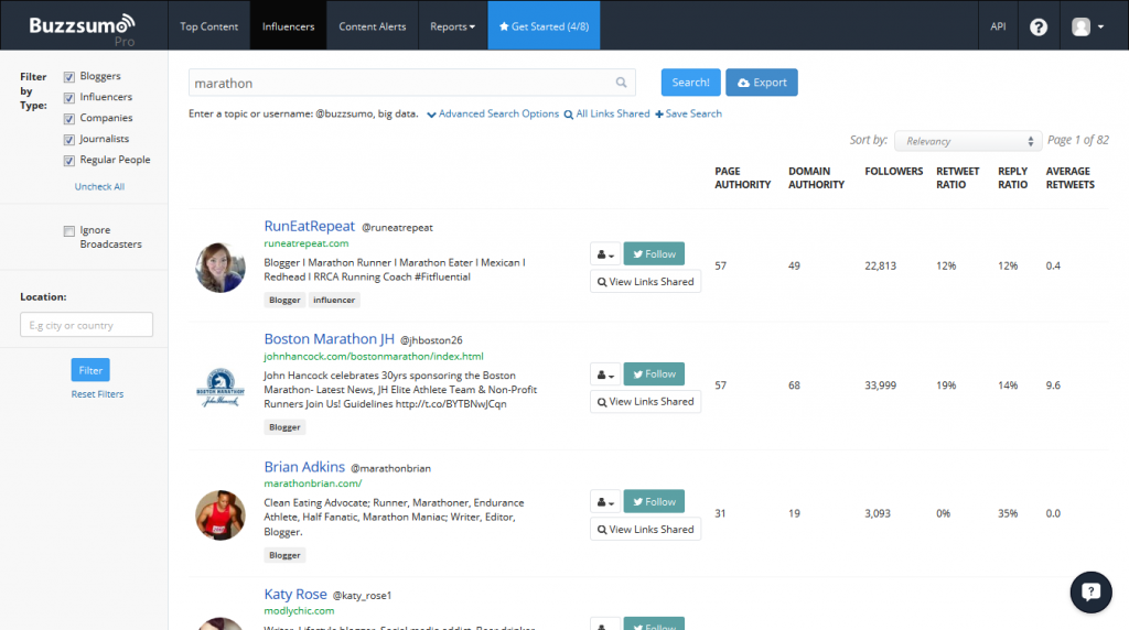 buzzsumo influencers research