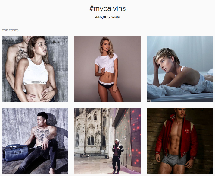 my calvin campaign on Instagram