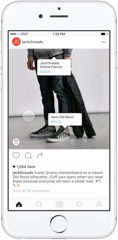 instagram shopping tag