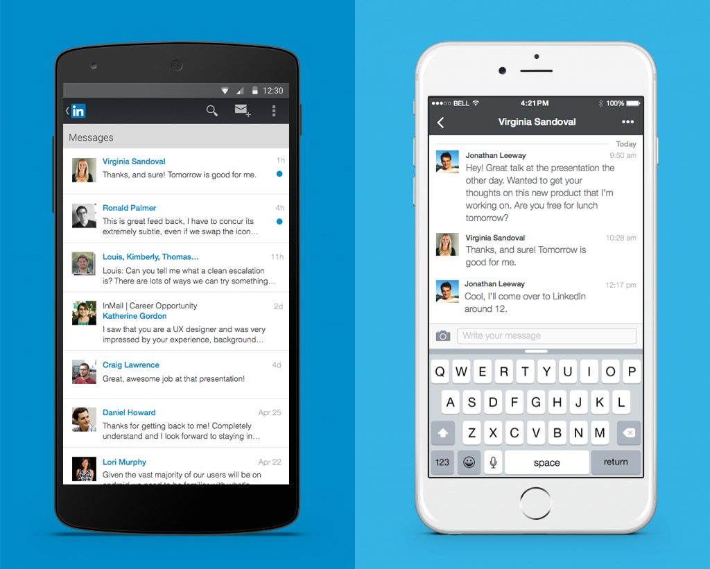 linkedin mobile messaging