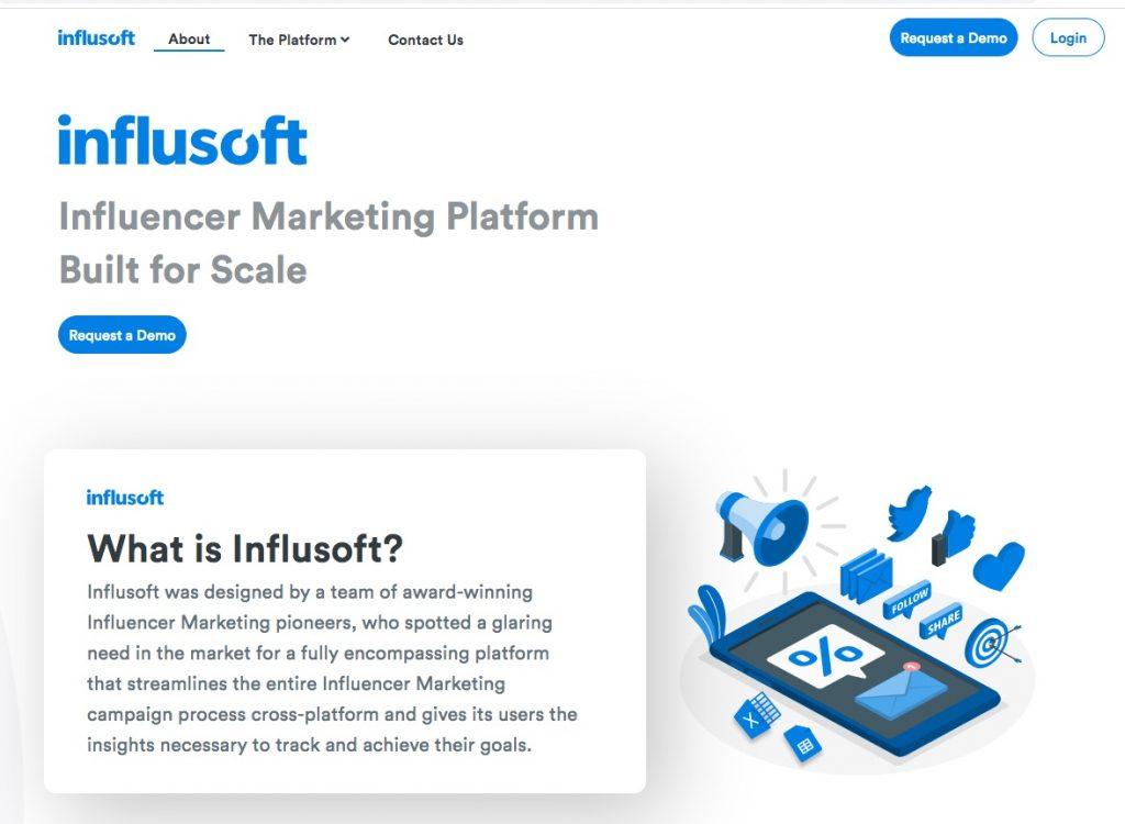 influsoft influencer marketing platform