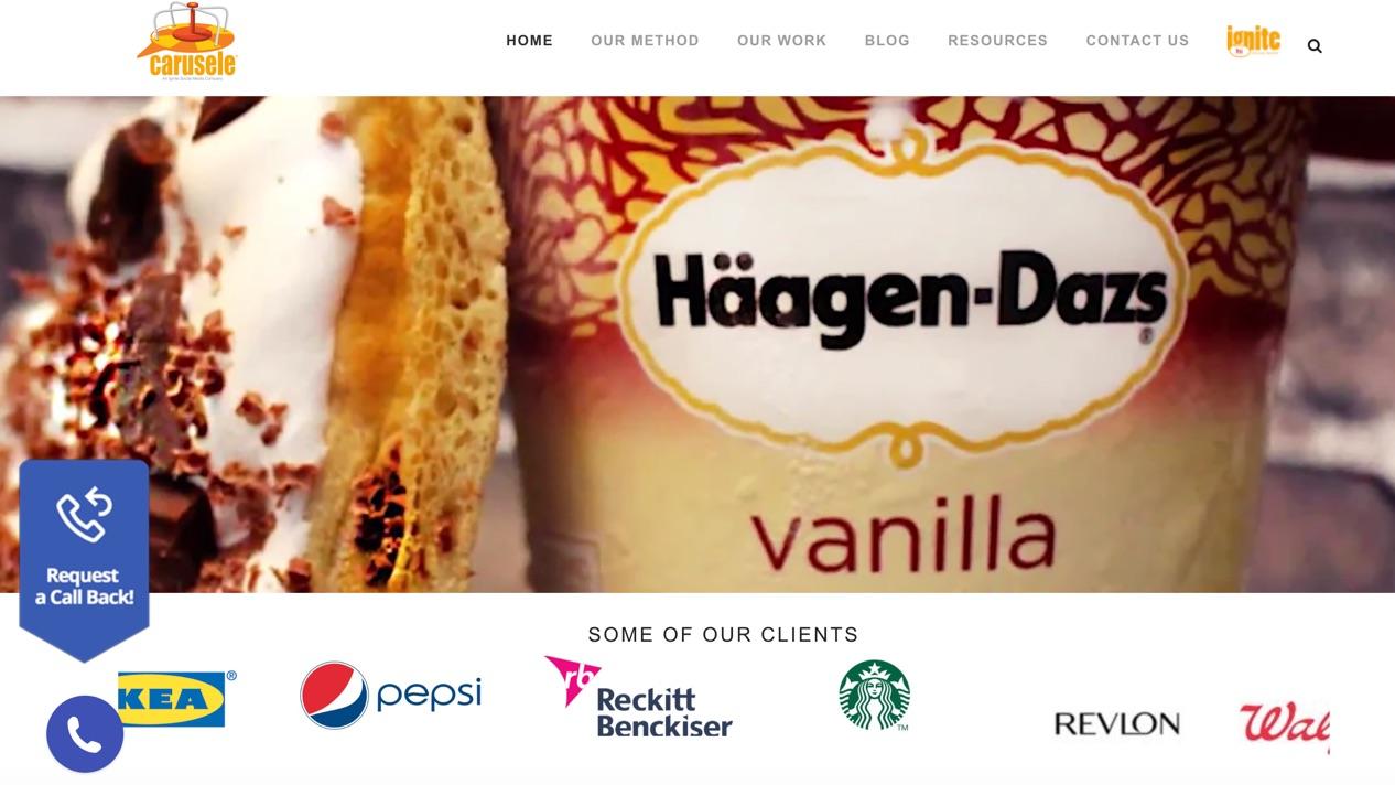 carusele influencer marketing agency