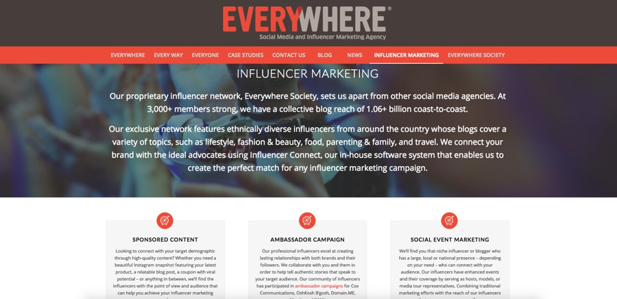 Everywhere Social Media and Influencer Marketing Agency