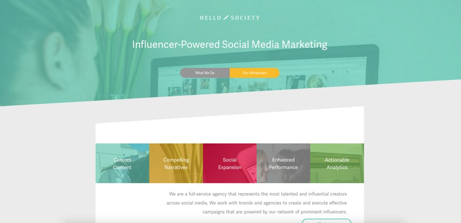 Hello Society top influencer agency