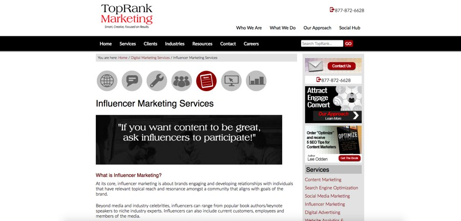 Top Rank Marketing B2B influencer marketing
