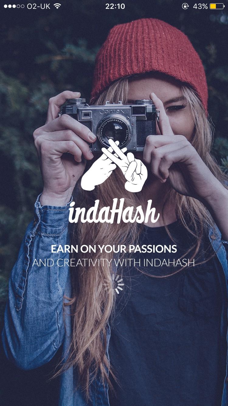 indaHash splash page