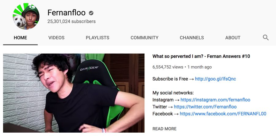 fernanfloo info on youtube