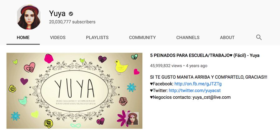 yuya info on youtube