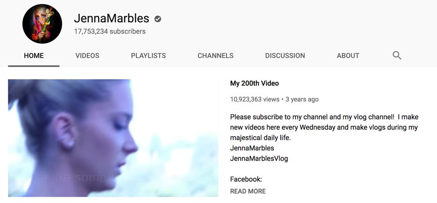 jennamarbles info on youtube