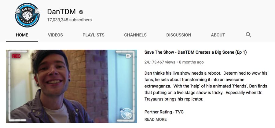 dantdm info on youtube
