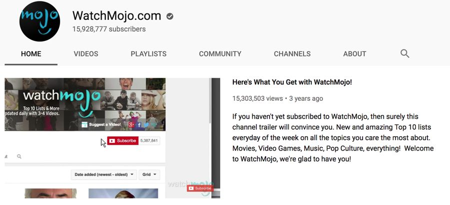 watchmojo info on youtube