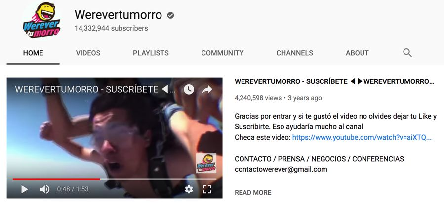 werevertumorro info on youtube
