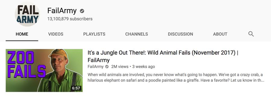 failarmy info on youtube