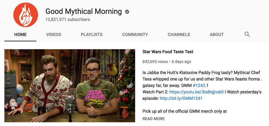 good mythical morning info on youtube