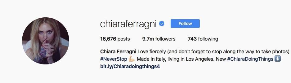 Chiara Ferragni - @chiaraferragni