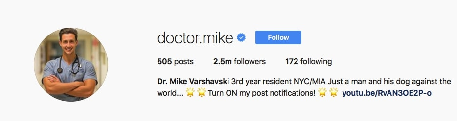 Dr. Mike Varshavski - @doctor.mike