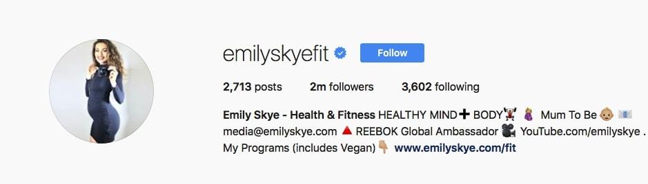 Emily Skye - @emilyskyefit