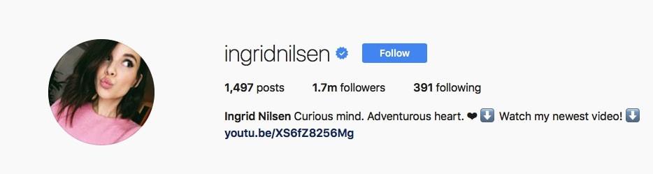 Ingrid Nilsen - @ingridnilsen