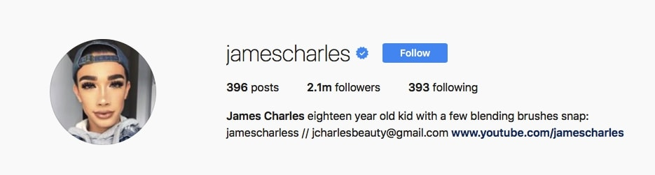 James Charles - @jamescharles