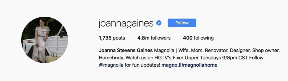 Joanna Gaines - @joannagaines