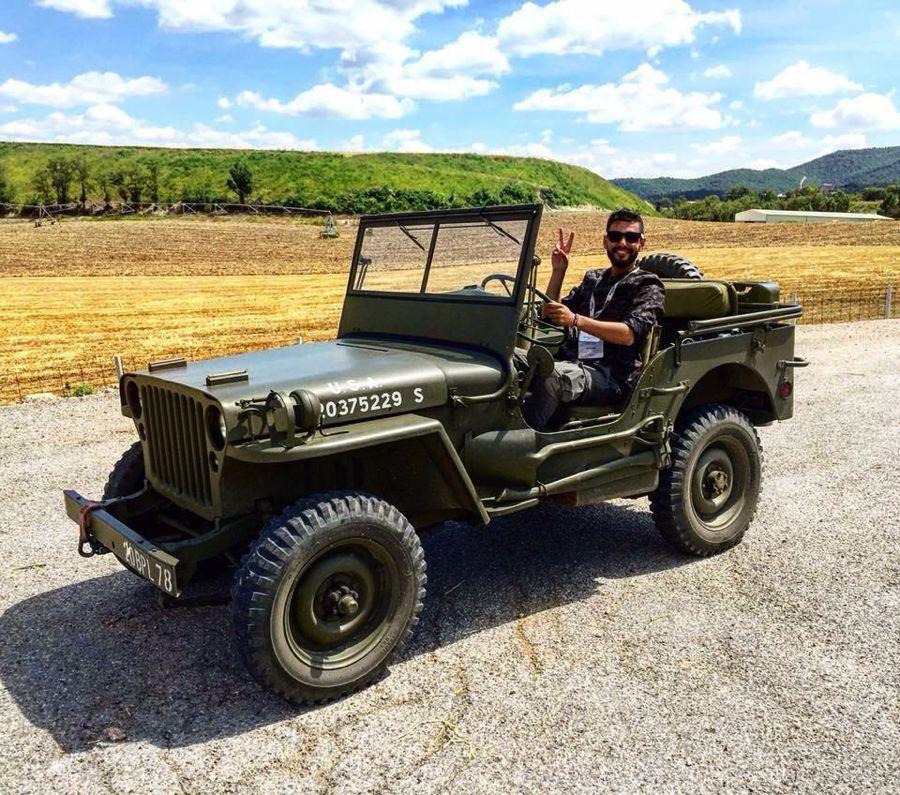 Mahmoud Kamal jeep