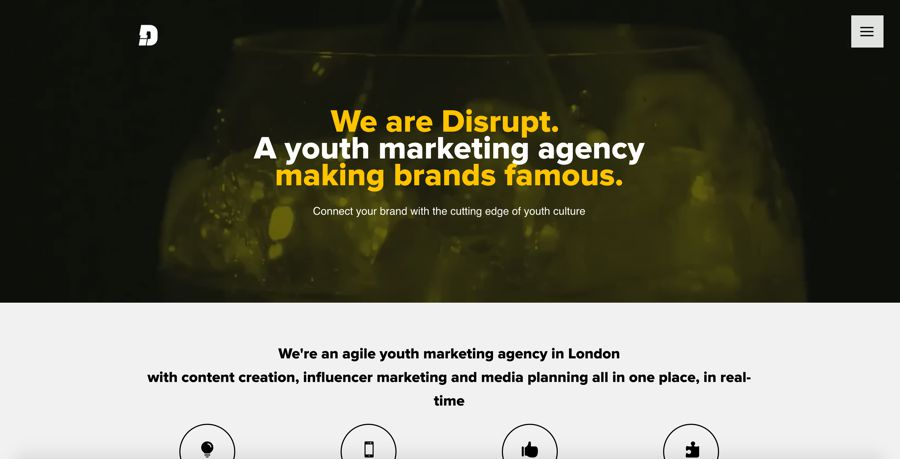 disrupt influencer marketing agency