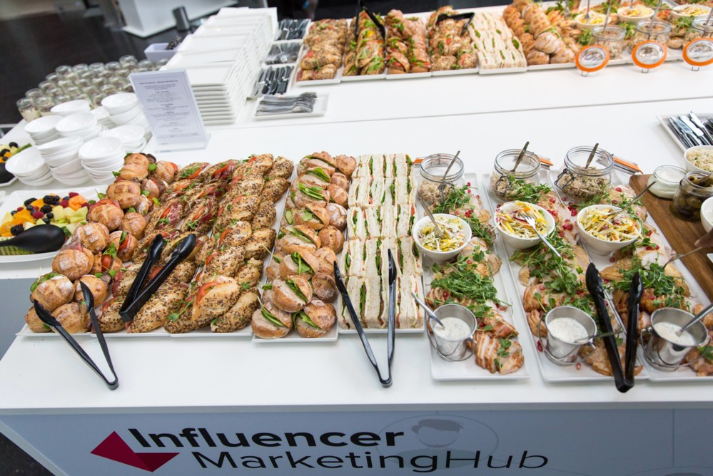 catering during Under The Influence - Influencer Marketing Conference