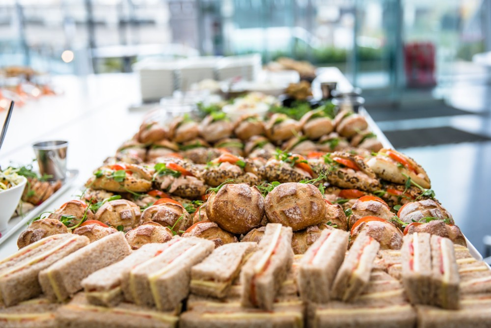 sandwiches at Under The Influence - Influencer Marketing Conference