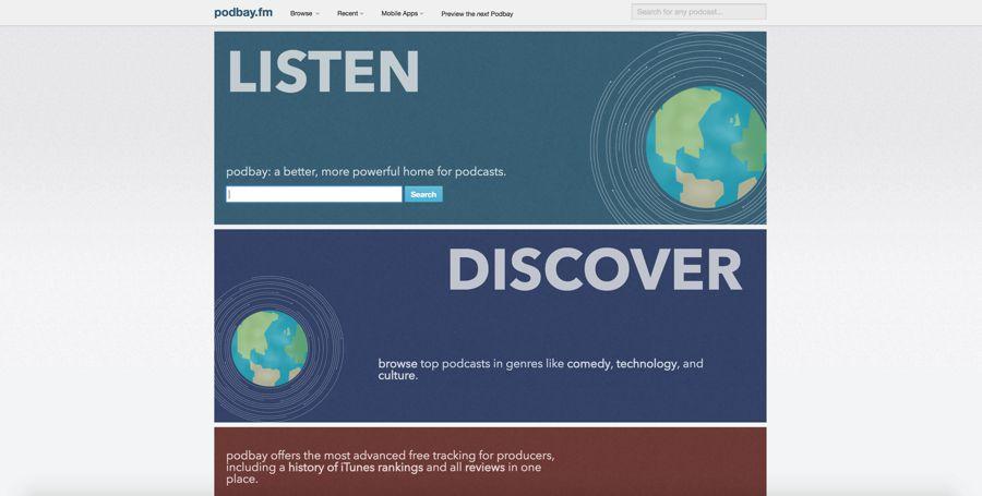 podbay.fm homepage