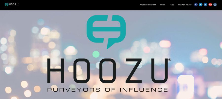 hoozu agency homepage