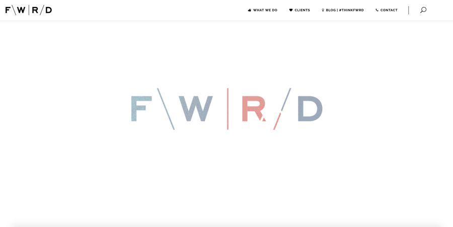 fwrd agency homepage