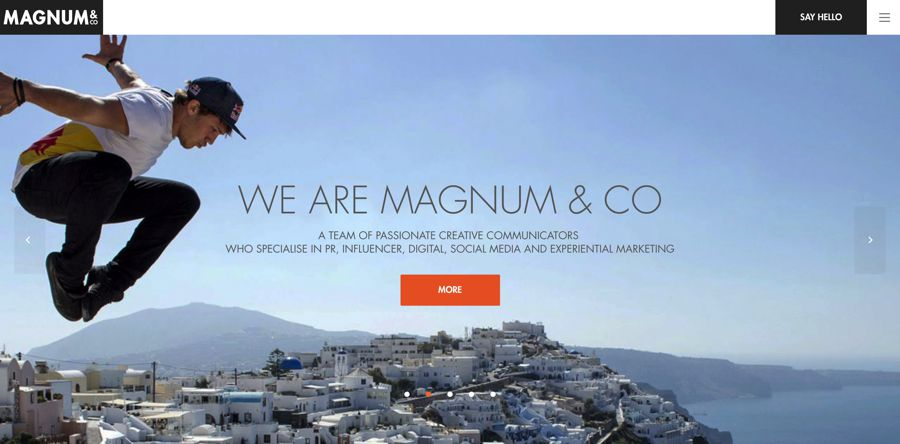 magnum & co. agency homepage