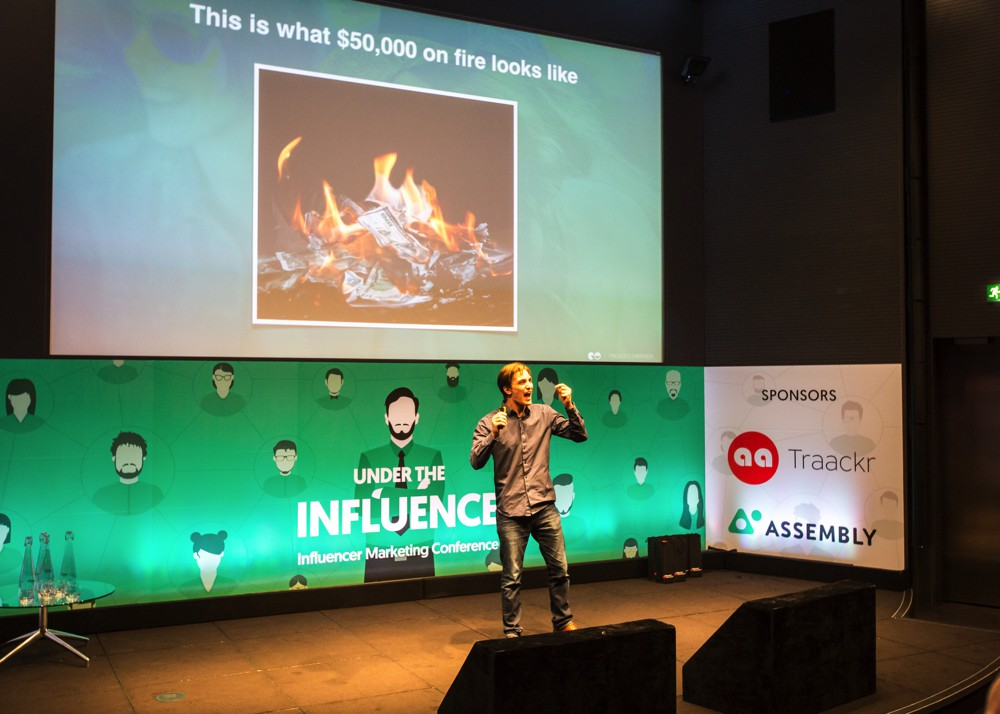 Jesse Leimgruber at Under The Influence - Influencer Marketing Conference