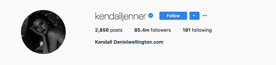 Kendall Jenner - @kendalljenner