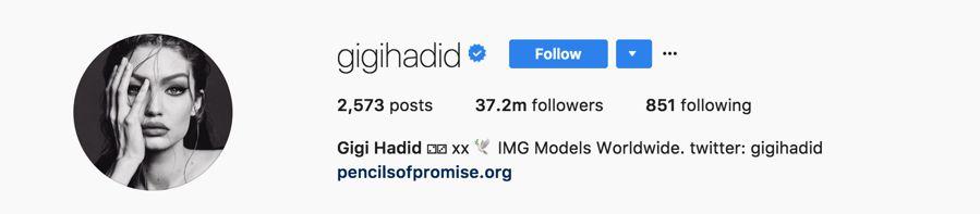 Gigi Hadid - @gigihadid