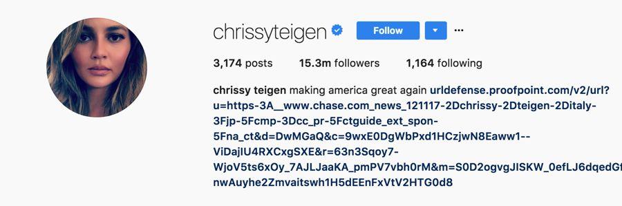 Chrissy Teigen - @chrissyteigen