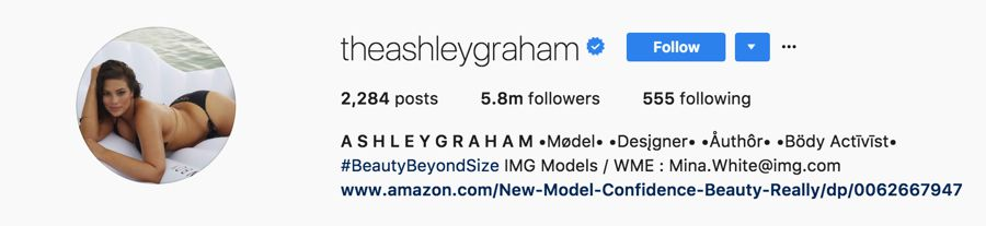 Ashley Graham = @theashleygraham