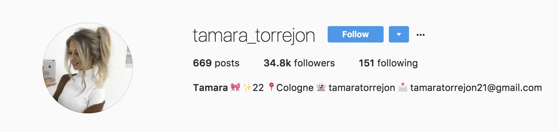 tamara_torrejon instagram profile