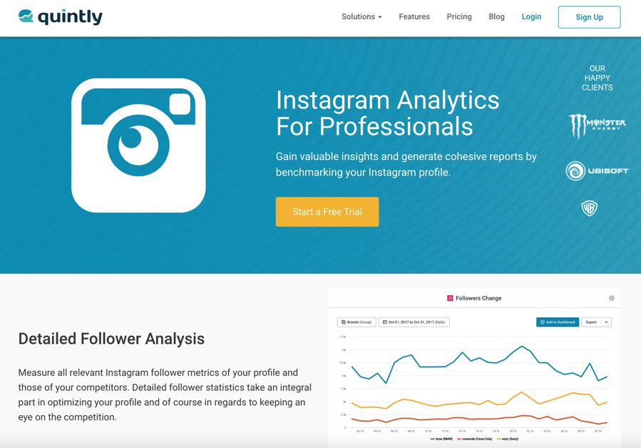 quintly - instagram analytics for professionals