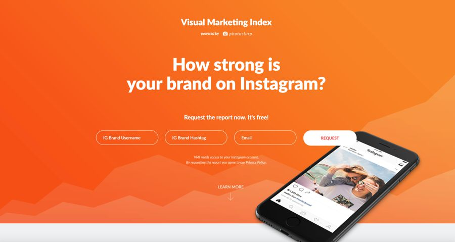 visual marketing index - how strong is your brand on instagram?