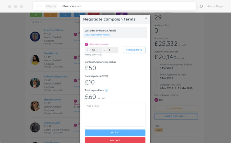 Influencer Review | Influencer Marketing Platform Pricing & Features