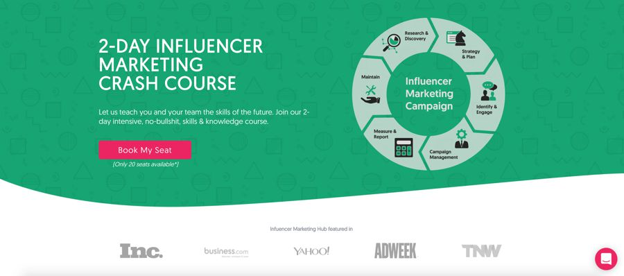 Influencer Marketing Hub 2-Day influencer Marketing Crash Courses