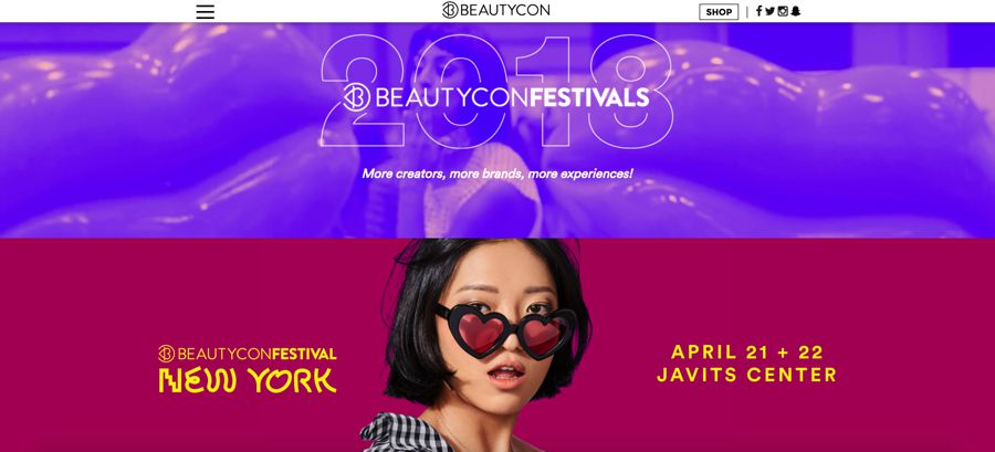 BeautyCon Festivals 2018 influencer marketing festival