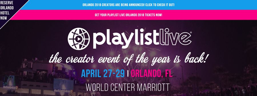 Playlist Live influencer marketing event
