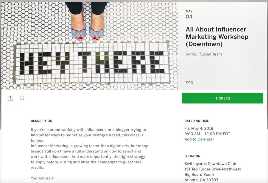 All About Influencer Marketing Workshop