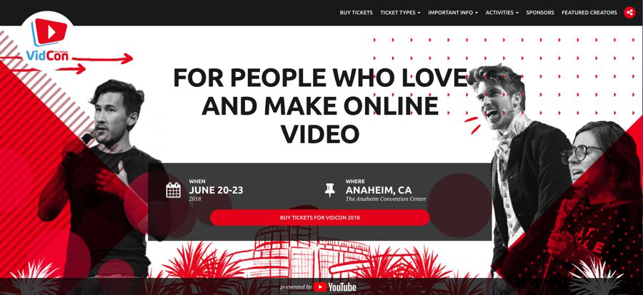 VidCon influencer marketing event