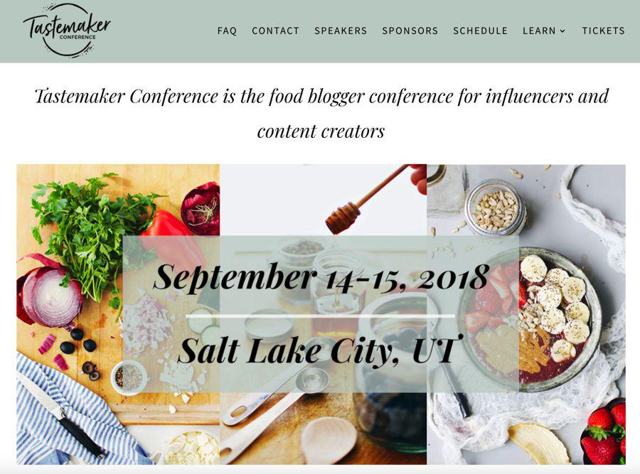 Tastemaker Conference influencer marketing event