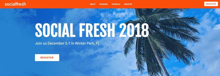 Social Fresh influencer marketing event