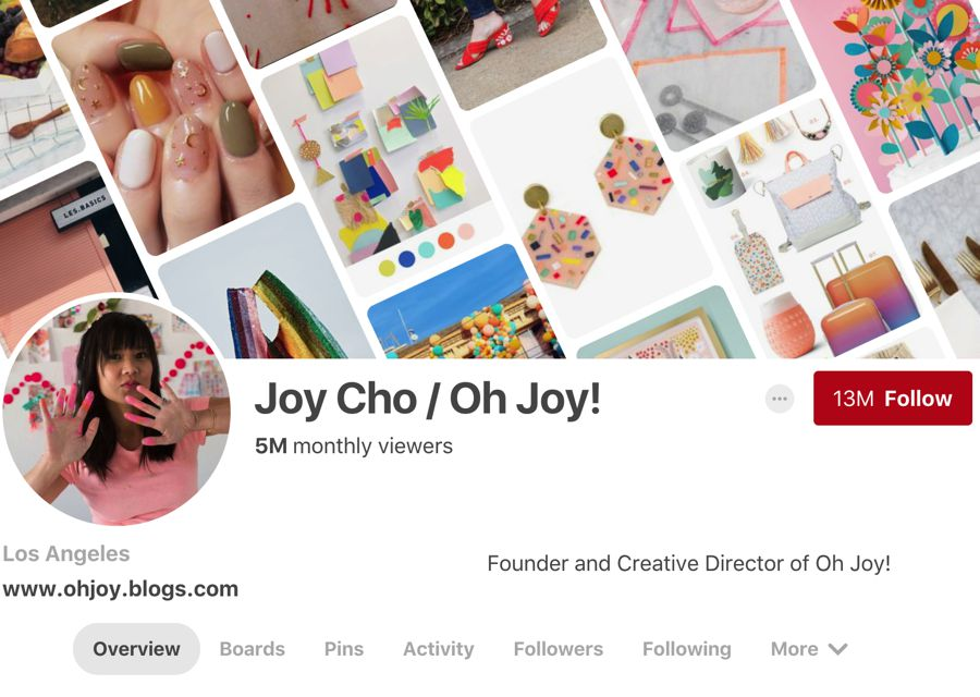 Joy Cho / Oh Joy! pinterest influencer