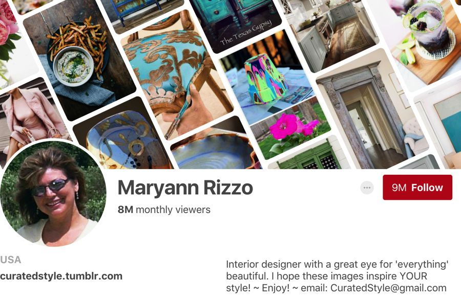 Maryann Rizzo pinterest influencer
